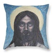 Gothic Jesus Throw Pillow