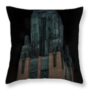 Gothic Night. Architecture Of Los Angeles Throw Pillow