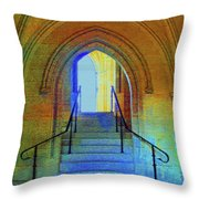 Gothic Steps Throw Pillow