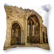 Gothic Temple Ruins - San Domingos Throw Pillow