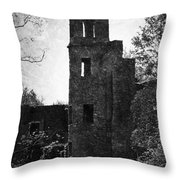 Gothic Tower At Blarney Castle Ireland Throw Pillow