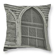 Nantucket Gothic Window  Throw Pillow