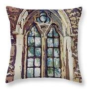 Gothic Window Throw Pillow