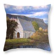 Gougane Barra Cork Throw Pillow