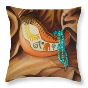 Gourd With Turquoise Throw Pillow