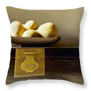 Gourds Still Life I Throw Pillow by Kyle Rothenborg - Printscapes