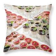 Gourmet Desserts Throw Pillow
