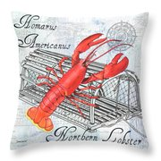 Gourmet Shellfish 2 Throw Pillow
