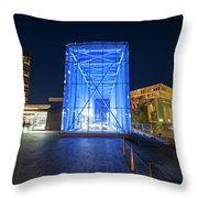 Goverment Center Boston Ma In Blue City Hall Throw Pillow