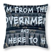 Government Help Throw Pillow