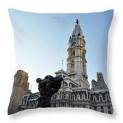 Government Of The People And City Hall Philadelphia Throw Pillow