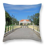 Governor Mansion In Battambang Cambodia Throw Pillow