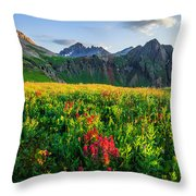Governor's Basin In Bloom Throw Pillow