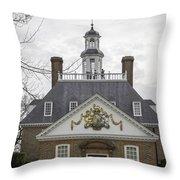 Governors Palace Back Door 01 Throw Pillow