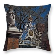 Governor's Palace Gate Detail Throw Pillow