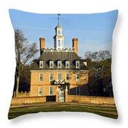 Governor's Palace Williamsburg Throw Pillow