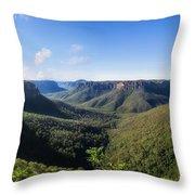 Govetts Leap Lookout Panorama, Australia Throw Pillow