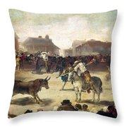 Goya: Bullfight, 1793 Throw Pillow