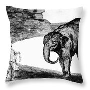 Goya: Elephant, C1820 Throw Pillow