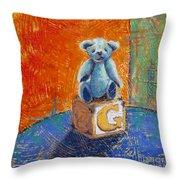Gq Teddy Throw Pillow