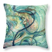 Grab Her By The Octopussy Throw Pillow