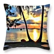 Grabbers Sunset Throw Pillow