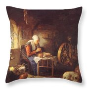 Grace Before Meat Throw Pillow