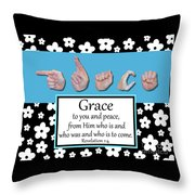 Grace - Bw Graphic Throw Pillow