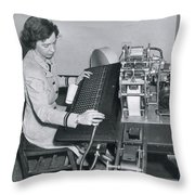 Grace Hopper, American Computer Scientist Throw Pillow