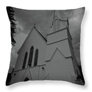 Grace In Black And White Throw Pillow