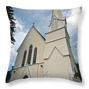 Grace In The White Mountains Throw Pillow