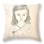 Little Grace Throw Pillow