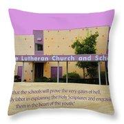 Grace Lutheran School Throw Pillow
