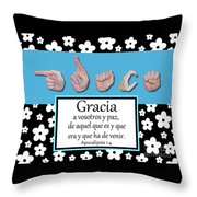Grace Spanish - Bw Graphic Throw Pillow