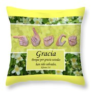 Grace Spanish Throw Pillow