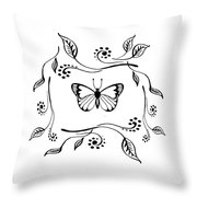 Graceful Butterfly Baby Room Decor Iv Throw Pillow