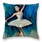 Graceful Dance Throw Pillow