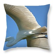Graceful Flight Throw Pillow
