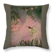 Graceful Hummingbird Throw Pillow