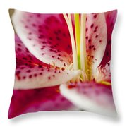 Graceful Lily Series 19 Throw Pillow