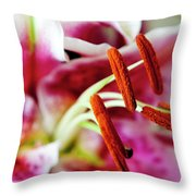 Graceful Lily Series 23 Throw Pillow