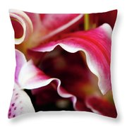 Graceful Lily Series 26 Throw Pillow