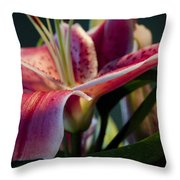 Graceful Lily Series 8 Throw Pillow