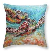 Sea Turtle Buddies Throw Pillow