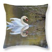 Graceful Swan I Throw Pillow