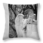 Graceland Cemetery Angel Throw Pillow