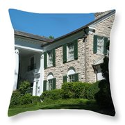 Graceland Home Of Elvis Presley, Memphis, Tennesseen Throw Pillow