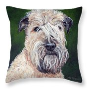 Gracie, Soft Coated Wheaten Terrier Throw Pillow