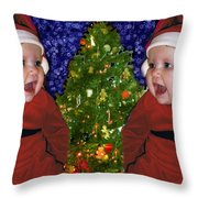 Gracies Christmas Tree Throw Pillow