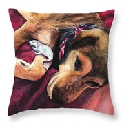 Gracis Great Defender Throw Pillow